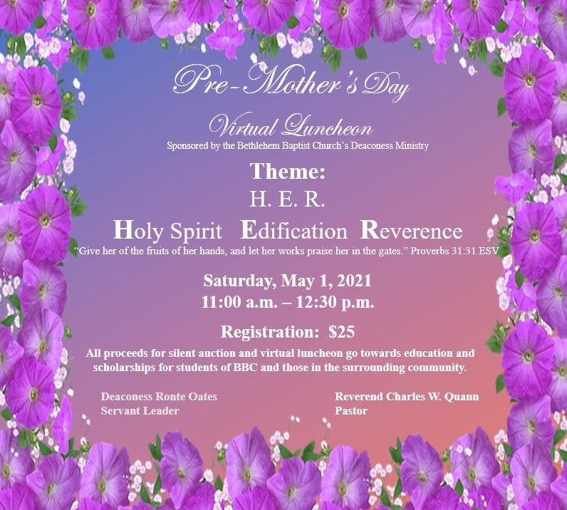 BBC Deaconess Pre Mother's Day Event Square 2021